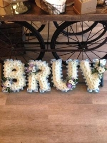 'BRUV', Based in white, pale blue ribbon.