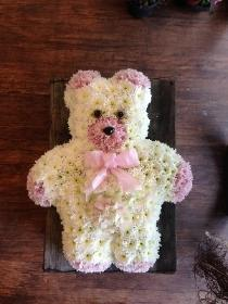 Teddy pink and white.